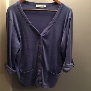 Sweaters - 🔥 Blue V Neck Lightweight Cardigan